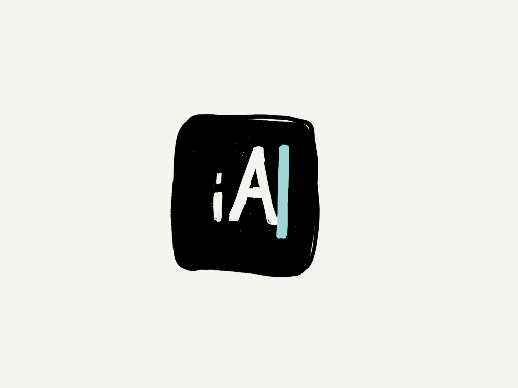 a hand drawn version of the ia writer icon