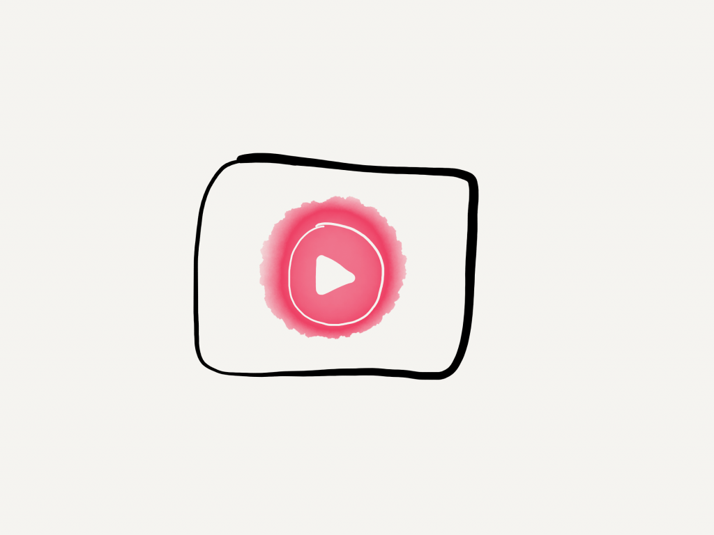 a hand drawn version of the YouTube music icon