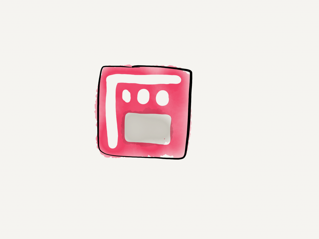 a hand drawn version of the filmic pro app icon