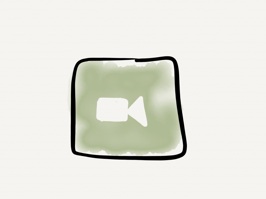 FaceTime icon hand drawn